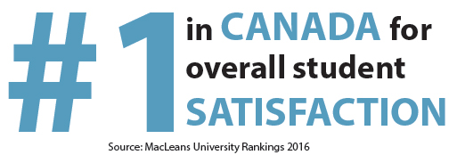 #1 in Canada for overall student satisfaction.