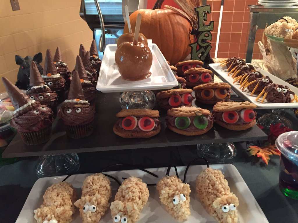 Halloween treats prepared by hospitality services.