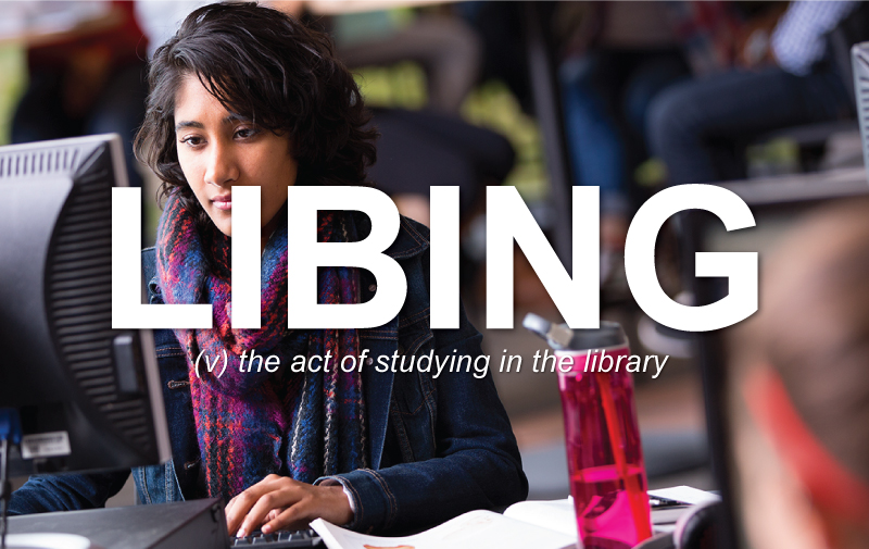 Libing: thr act of studying in the library