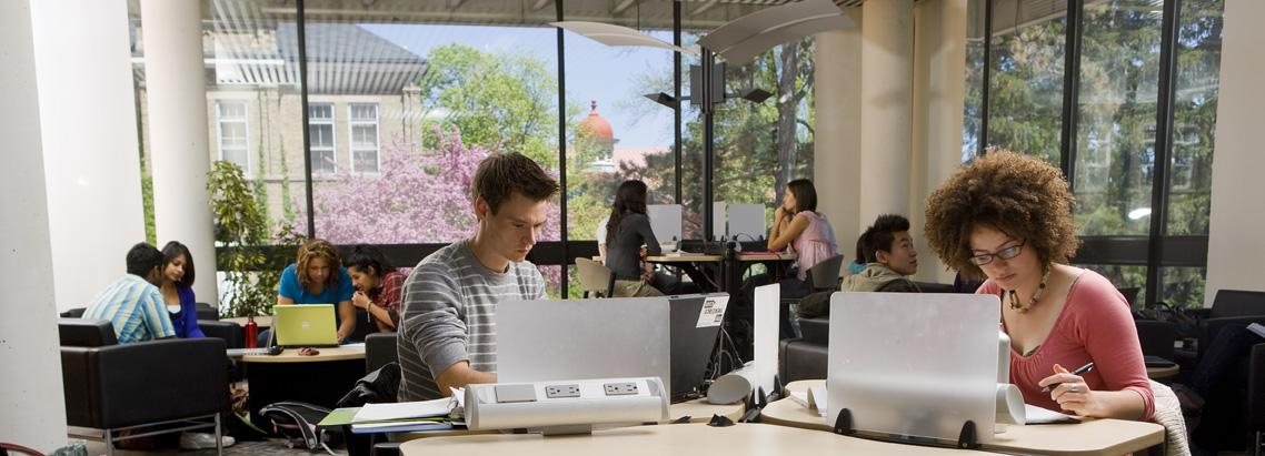 Students on a computer