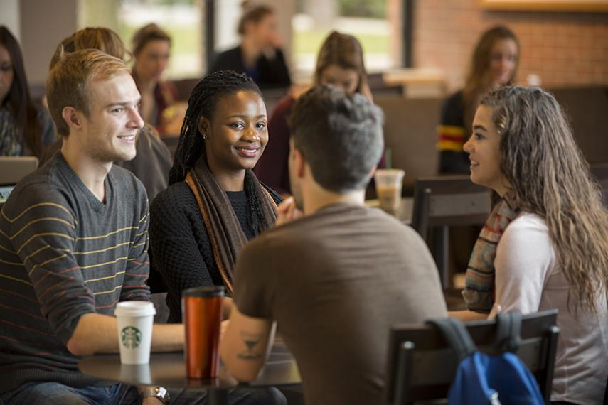Students at Starbucks