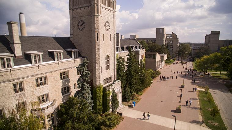 Johnston Hall from above