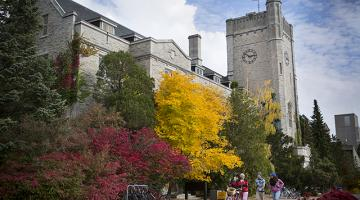 Johnston Hall, an iconic student residence at the University of Guelph.